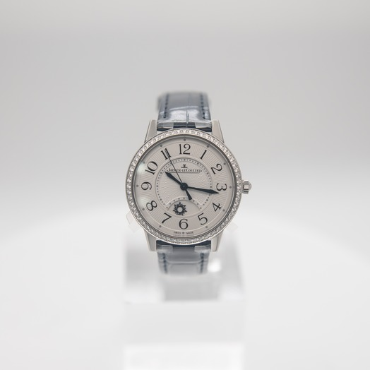 Jaeger LeCoultre Rendez-Vous Night & Day Medium Automatic Silver Dial Diamonds Ladies Watch Q3448430