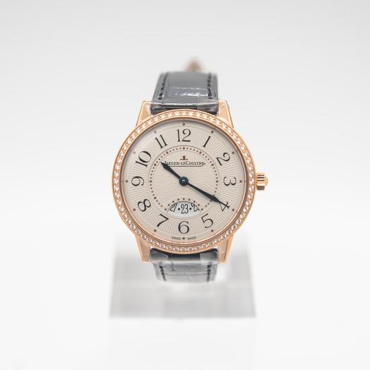 Jaeger LeCoultre Rendez-Vous Date Medium Quartz Silver Dial Diamonds Ladies Watch Q3472530