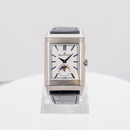 Jaeger LeCoultre Reverso Tribute Moon Manual-winding Silver Dial Men's Watch Q3958420