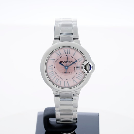 Cartier Ballon Bleu de Cartier 33 mm Automatic Pink Dial Stainless Steel Ladies Watch W6920100