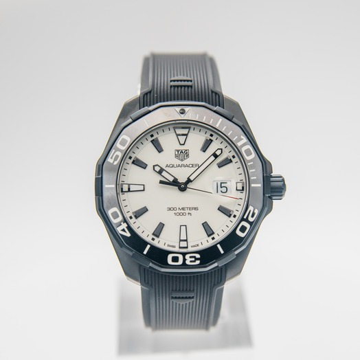 TAG Heuer Aquaracer 3-hand Quartz White Dial Men's Watch WAY108A.FT6141