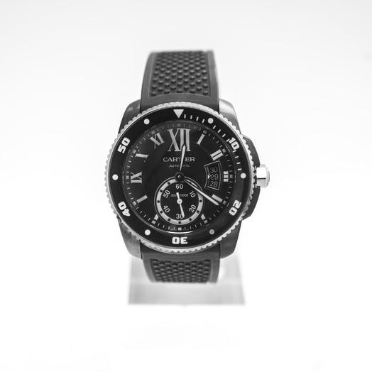 Cartier Calibre de Cartier 42 mm Automatic Black Dial Stainless Steel Men's Watch WSCA0006
