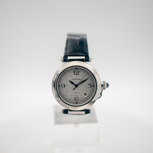 Cartier Pasha de Cartier 41mm Automatic Silver Dial Stainless Steel Men's Watch WSPA0010